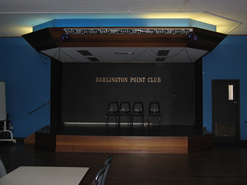 function room at the darlington point club