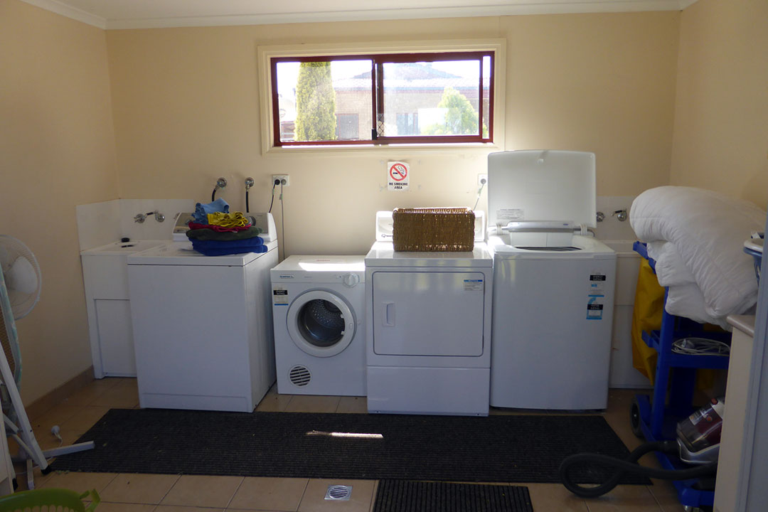 Laundry facilities - self-contained accommodation